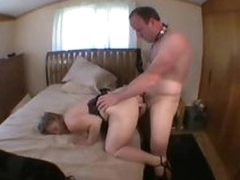 Cuckold hubby licks pussy while wife takes boner