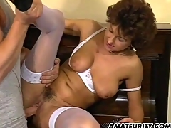 Adult unskilled wed homemade threesome down cum