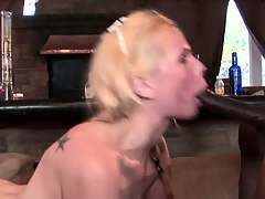 Gangbang bimbo gets drilled by louring cock plus gets a treat load