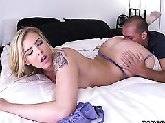 Lexi Davis gives tall oral delight hither hot guy